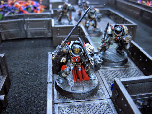 The Grey Knight captain was shot down an entire swarm guarding the bay door console.