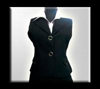 Chaleco de dotacion para para dama en paño, ideal para oficina.
