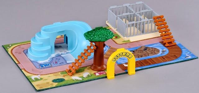 Hình ảnh sắc nét của bộ đồ chơi mô hình Takara Tomy Ania Playset exciting animal