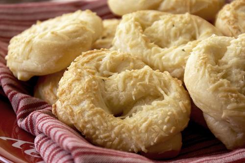 Parmesan Pretzel Rolls