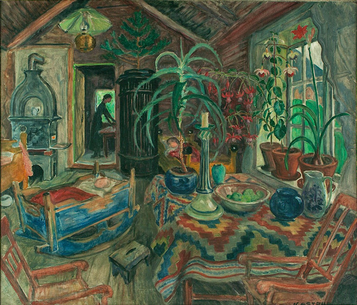 Nikolai Astrup - Interior with Cradle