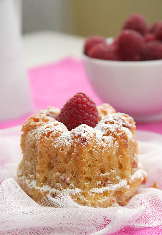 Raspberry-lemon mini bundt cakes