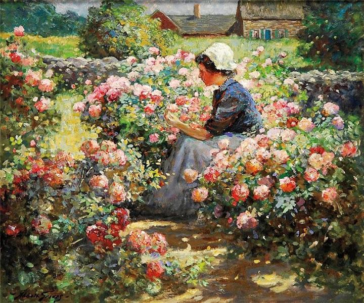 Abbott Fuller Graves - Flower garden