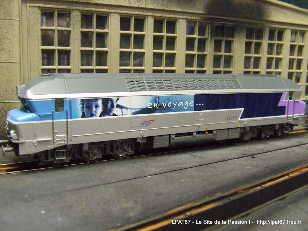 """Une nouvelle locomotive dans mon parc : la CC 172058 """" en voyage """" de Roco DSCF0074"""