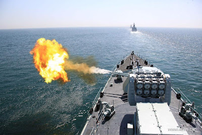 Chinese and Russian navies in first-ever joint exercise