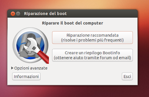 Boot-Repair su Ubuntu