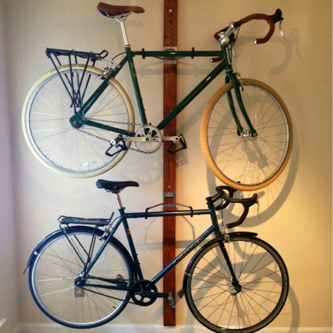 Furnishing on a budget: $30 DIY Bike Rack