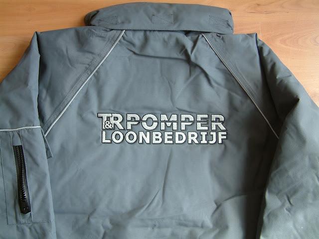 Werkjas Loonbedrijf Pomper rug