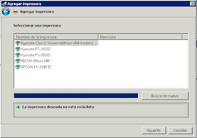 Instalar impresora con IP en Windows Server 2008