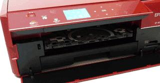 Máy in epson Ep-803A, Bảng điều khiển và khay in CD