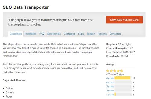 Chuyển dữ liệu SEO với plugin SEO Data Transporter - Ảnh 3