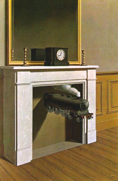 El tiempo atravesado de Magritte