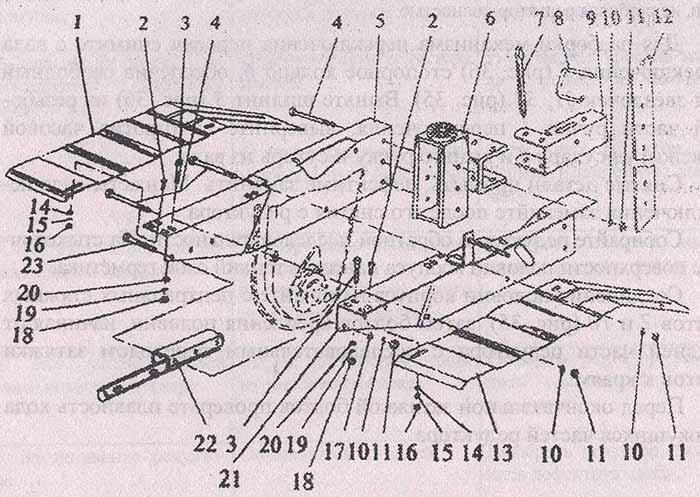 Несущую раму мотоблока МБ-2