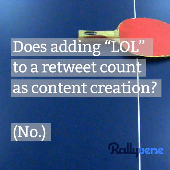 What counts as content creation?