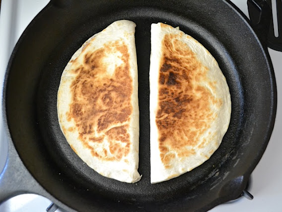 brown and crispy quesadilla