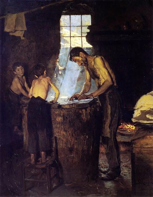 Peder Severin Krøyer - Italian Village Hatters