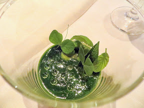 Castagna Snax: Onion Terrarium pea vines sunflower sprouts winter cress from Castagna Restaurant