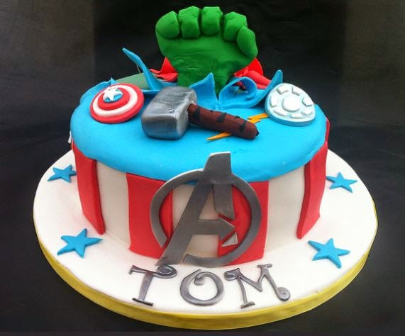 avenger birthday cakes