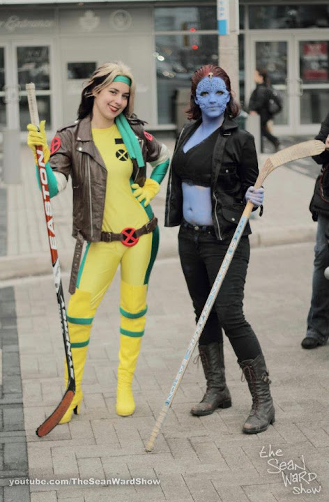 Cosplay Rogue and Mystique at Toronto Superhero Hockey