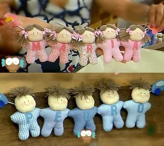 cordão de bonecas de pano