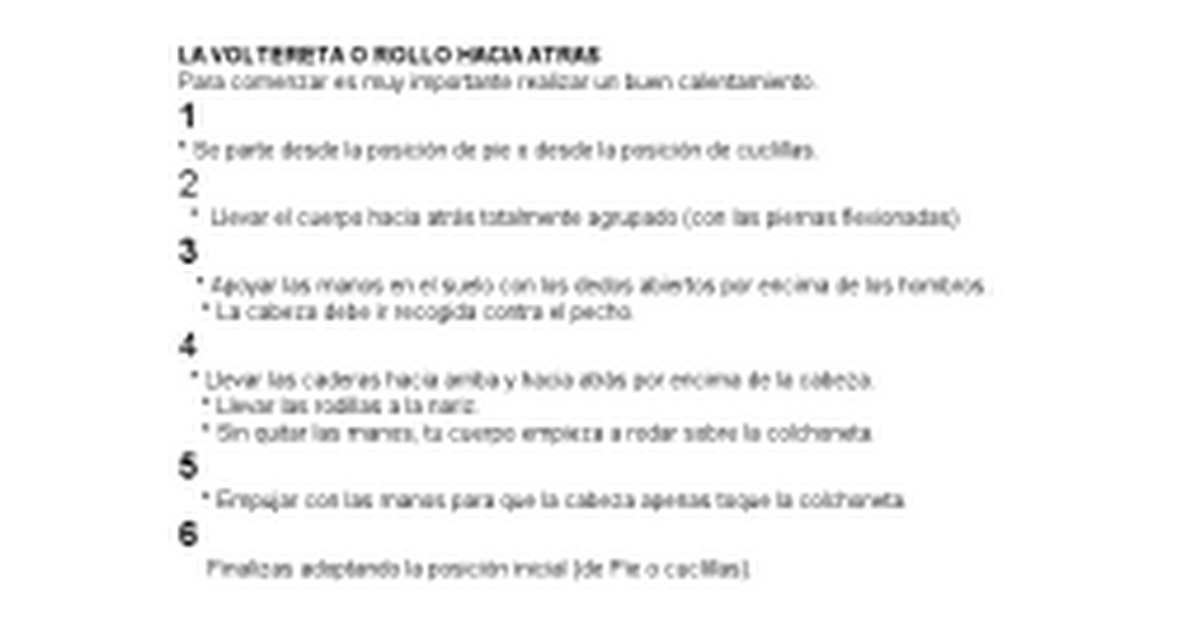 LA VOLTERETA O ROLLO HACIA ATRAS.docx - Google Docs