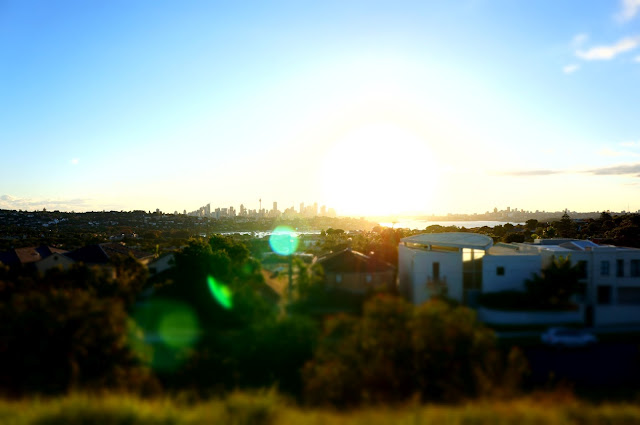Sunset over Sydney from Dudley Reserve