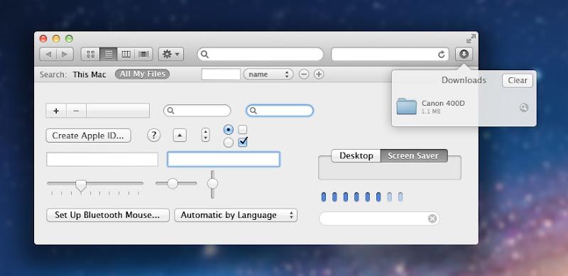 Lion OSX UI Kit PSD 20 useful UI elements PSDs
