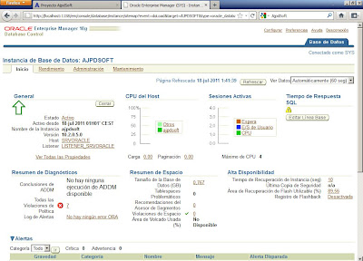 Configurar Oracle 10g para acceso a Oracle Enterprise Manager Database Control en Windows Server 2008 R2