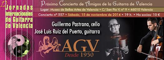 José Luis Ruiz del Puerto y Guillermo Pastrana en concierto de Amigos de la Guitarra de Valencia