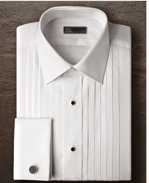 New ike behar cotton french cuff 16 1 2 34 35 spread for Tuxedo shirt without studs