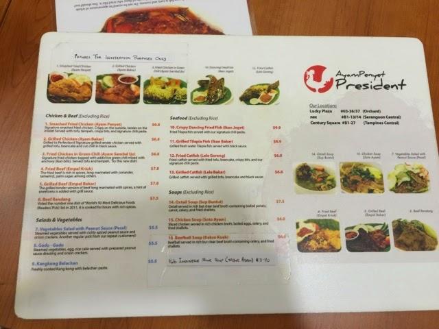 Leong ming en food adventures ayam penyet president for The flying fish menu