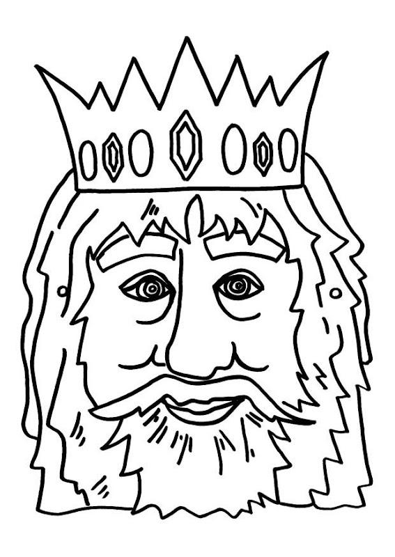 Máscara de rey para colorear