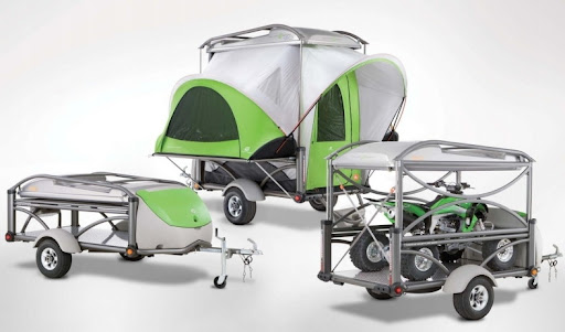 Mini Lightweight Motor Bike Quad Tent Camper trailer