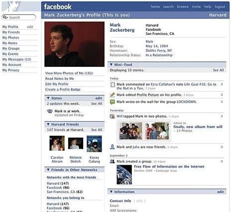 2006 yılında Facebook