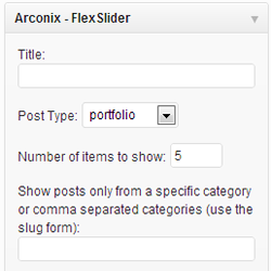 Wordpress Arconix Flexslider