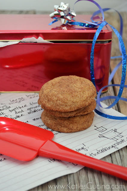 Coffee Snickerdoodles from TheBakingRobot.com #fbcookieswap