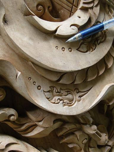 สุดยอดงานแกะสลักไม้สักช่างเมืองอุบล Thai Isan Teak Carving