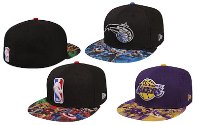 The Marvel x NBA Clothing Collection New Era Fitted Hats