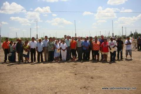 Entrega de lotes de terreno en colonia Ampliación Sendero Segundo Sector