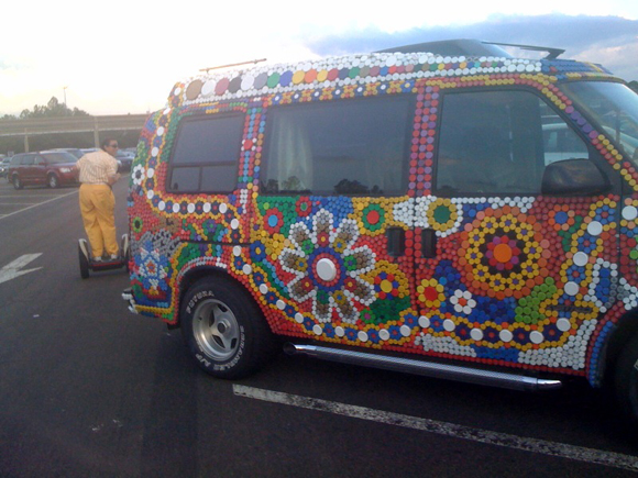Bottle Cap Van Side