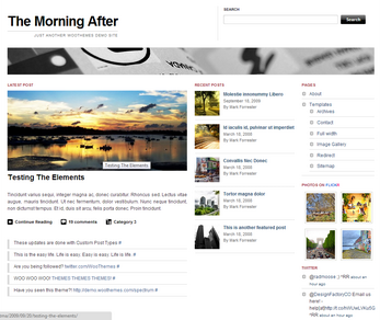 The Morning After – by WooThemes