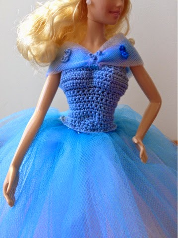 Tess and Annie: Cinderellas Blue Ball Gown - Free Crochet Pattern