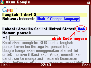 ubah kode telpon negara 2 Cara Membuat Akun Youtube Melalui HP