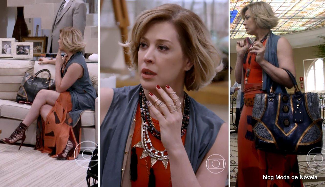 moda da novela Alto Astral, look da Samantha dia 25 de novembro