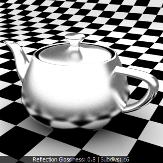 V-Ray Material ว่าด้วยเรื่อง Reflection Glossiness Chrome Rfgc04