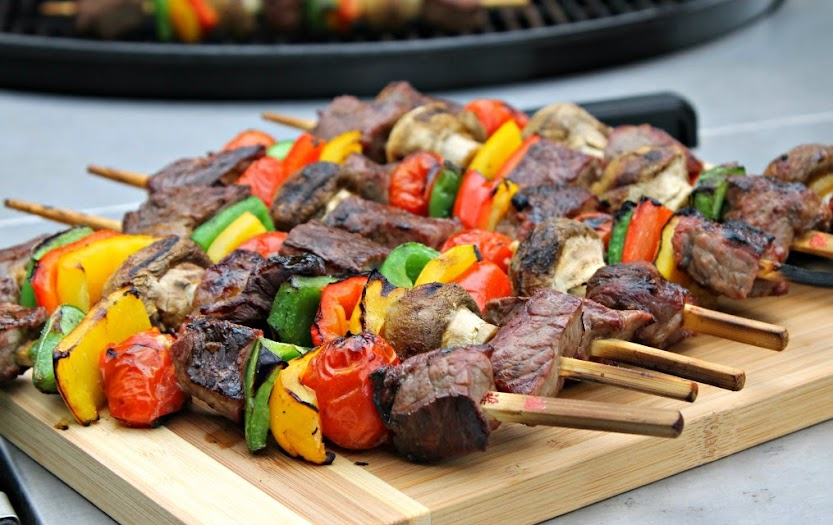 Grilled Steak Kabobs - Great for Tailgating!