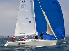 J/105s sailing San Diego at Yachting Cup Regatta