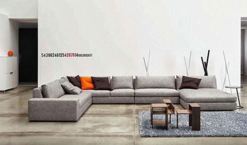 ghế sofa nỉ màu xám