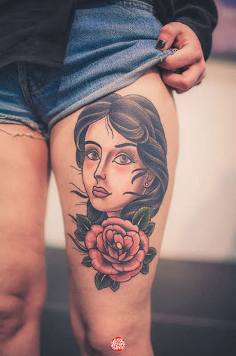 thig tattoos for girls