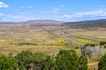 Eine endlose Landschaft, die nur durch die Interstate 70 unterbrochen wird